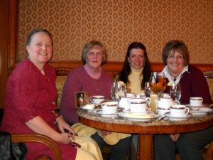 Lisa, Liane, Carolyn, and Me - not pictured, Pam