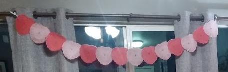 Heart banner clip