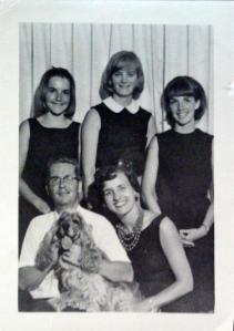 Vern and Mary with their daughters and Penny, their Cocker Spaniel
